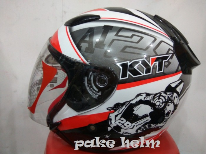 harga Helm kyt dj maru motif se world gp ready red djmaru half face Tokopedia.