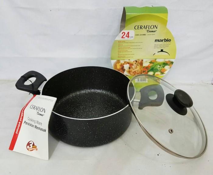 harga Ceraflon by cosmos panci dutch oven 24cm cdo 24mbc/panci soup Tokopedia.com