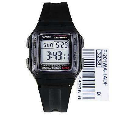 harga Jam tangan unisex casio f201wa-1a strap rubber jam digital case hitam Tokopedia.com