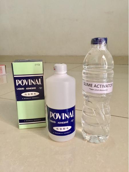 harga Paket povinal slime cair clear slime bening mainan anak set clear glue Tokopedia.com