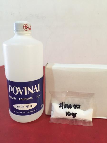 harga Paket lem povinal dan slime act 10gr / slime / clear glue / bening. Tokopedia.com