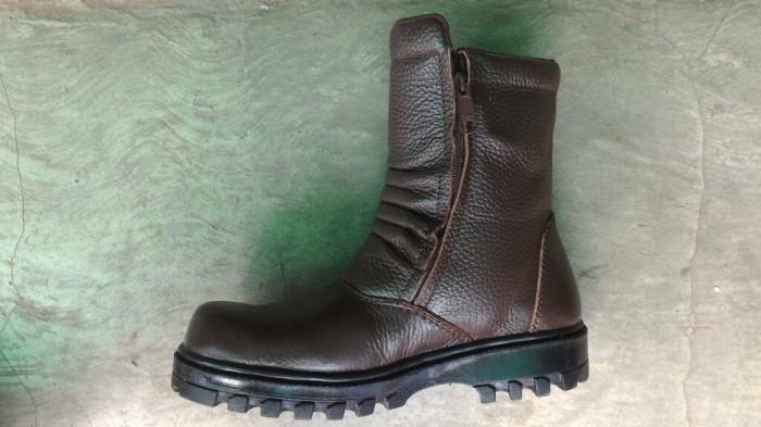 harga Sepatu boot sefty king sleting kulit (44-45)/ nabato grosir Tokopedia.com