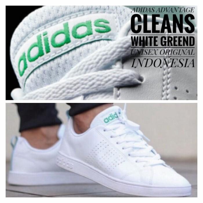 harga Sepatu sneaker pria adidas neo advantage clean white green Tokopedia.com