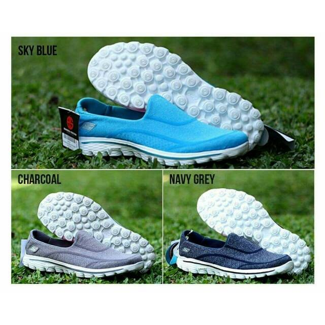 Jual Promo Murah F51k7 Sepatu Wanita Cewek Skechers Gowalk 2 Laris ... da590d0fb3