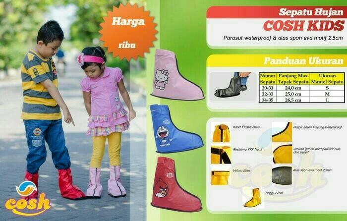 Cosh kids cover shoes | jas hujan sepatu buat anak