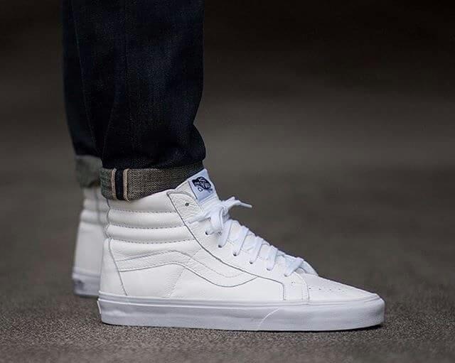 Jual Vans SK8 Hi -Full White - Fe Shops  40931f9548