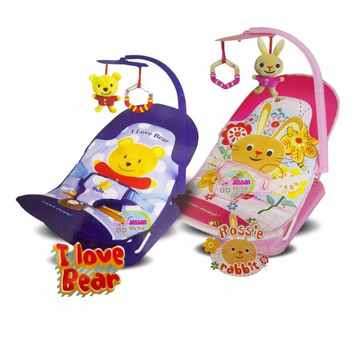 JBS ECO Sugar Baby Infant Seat Bouncer - I love Bear / Pink Rabbit