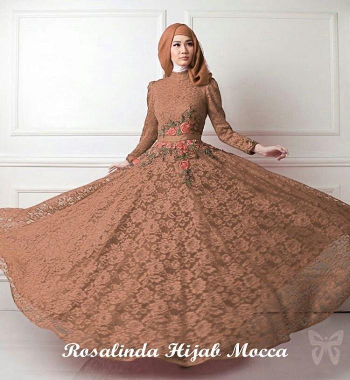 BUSANA MUSLIM/ Baju Rosalinda Mocca/ DRESS WANITA/GAMIS HIJAB /tunik