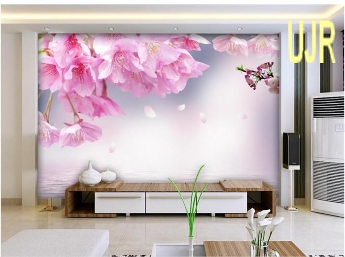 Jual Wallpaper Dinding 3d Model Bunga Sakura Tepi Air Untuk Ruang Tamu Kota Pontianak Usaha Jaya Raya Tokopedia