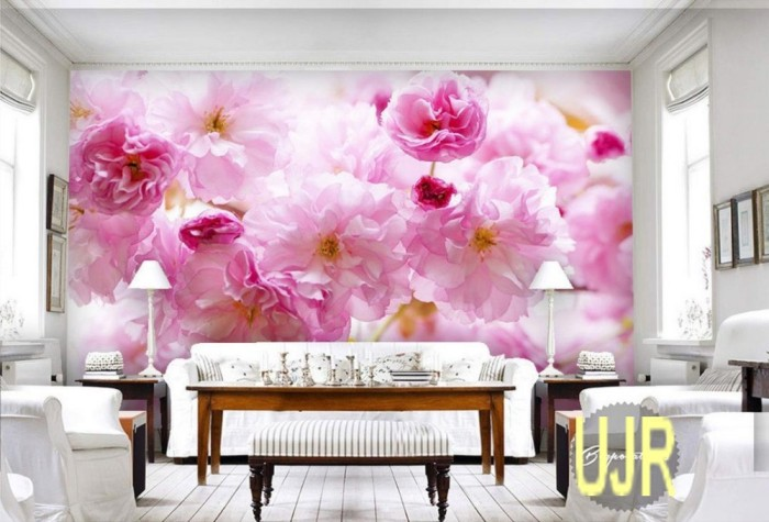 Jual Wallpaper Dinding 3d Model Bunga Sakura Besar Untuk Ruang Tamu Kota Pontianak Usaha Jaya Raya Tokopedia