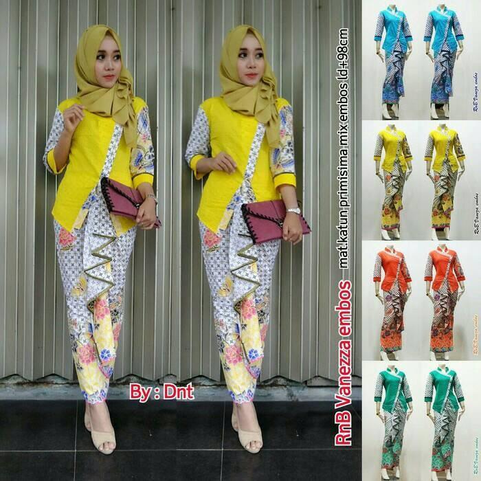 Jual Baju Batik Kebaya Wanita Model Cakista Embos Pesta Hijab Jakarta Pusat Farizattarsyah Tokopedia