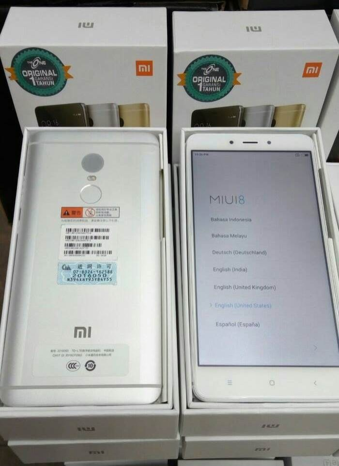 harga Xiaomi redmi note 4 silver ram 2gb internal 16gb distributor Tokopedia.com