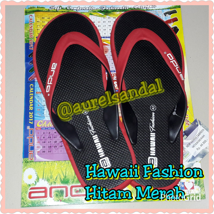 harga Sandal ando hawaii fashion hitam merah Tokopedia.com