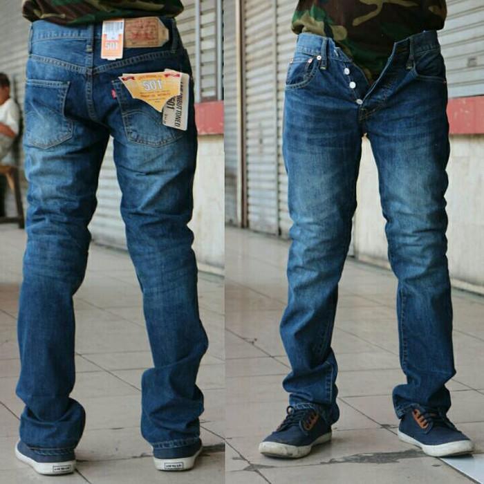 harga Celana Jeans Levis Original 501 Blue Wash Dark / Impor Usa Tokopedia.com