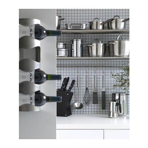 Ikea Vurm Rak Botol Kabinet Dapur Tempat Minuman Tahan Karat