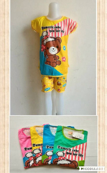 harga Baju tidur piyama anak cewek motif teddy bear Tokopedia.com