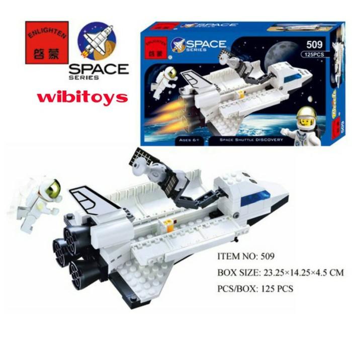 lego pesawat space city enlighten 509 space