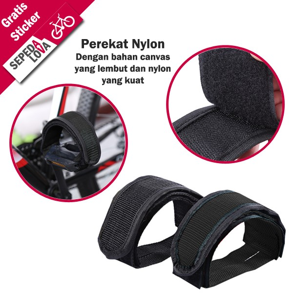 harga 1 set universal pedal toe clip sepeda hitam Tokopedia.com