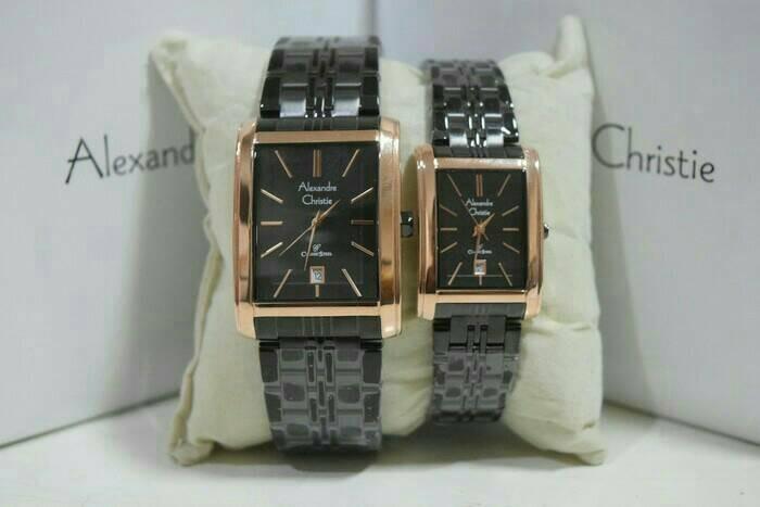 harga Jam tangan couple alexandre christie ac 8408 roseblack original g-1thn Tokopedia.com