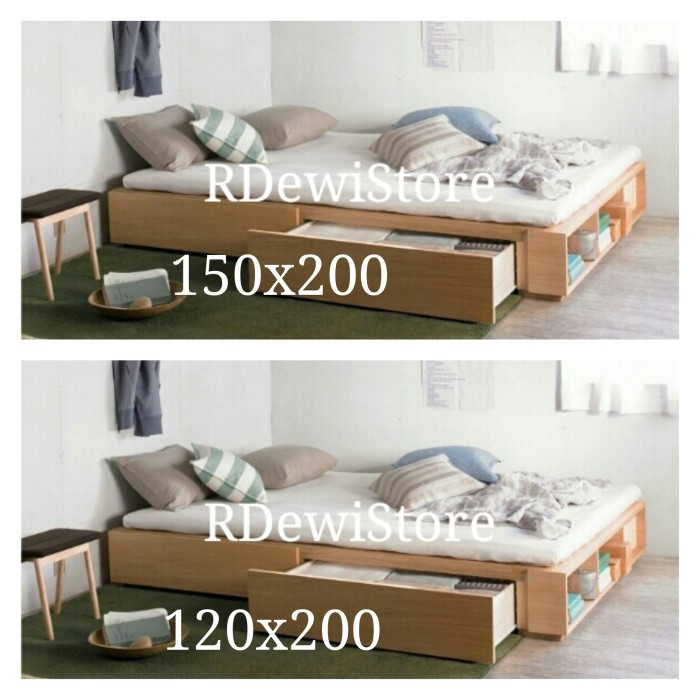 harga Tempat Tidur, Dipan, Ranjang, Minimalis Kayu Jati Laci, Lesehan Tokopedia.com