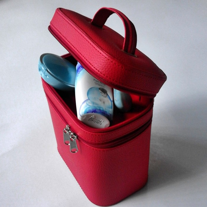 Tempat Kosmetik / Cosmetic Box / Beauty Case Full Merah