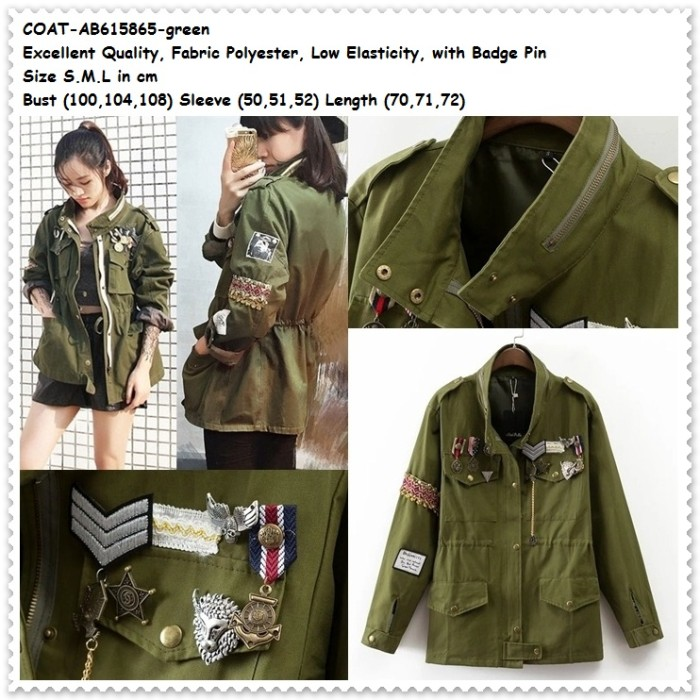 Jual Outer Jaket Army Jacket Coat Bomber Cardigan Baju Wanita Korea ... 6d81da6c72