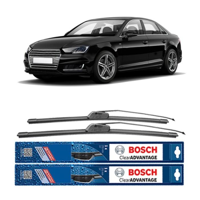 Jual Bosch Sepasang Wiper Mobil Audi A4 Frameless Clear Advantage 21 & 21 Harga Promo Terbaru