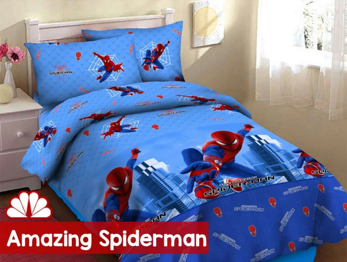 harga Sprei katun fortuna 180x200 karakter spiderman, seprai motif anak a1 Tokopedia.com