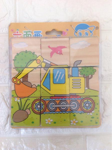 Nixnox | Mainan Edukatif | Mainan Anak Puzzle kayu Transportation