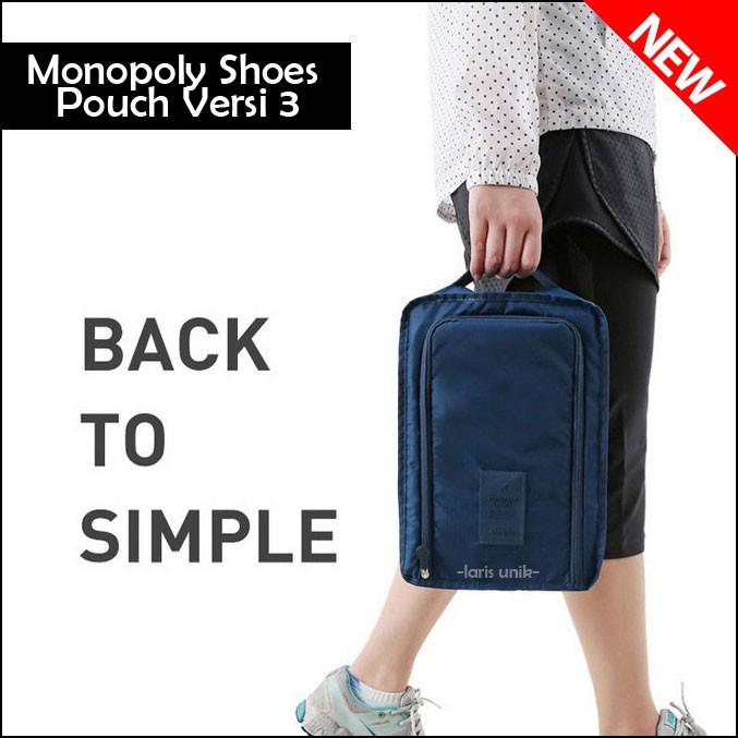 Tas Sepatu Sandal Olahraga Wisata Futsal / Monopoly Shoes Pouch Ver 3 .