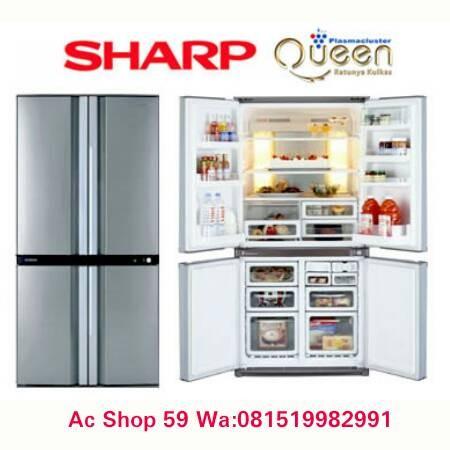 sharp side by side refrigerator. kulkas sharp sj-if 85 pb-sl,inverter side by queen series sharp side by refrigerator 0