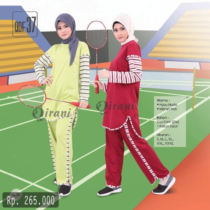 Foto Produk Stelan Baju Olahraga Muslim Qirani Fresh QDF 37 Size S-XL dari Gudang Diskon Muslimah