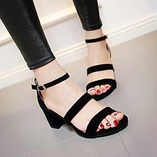 Sepatu Sandal Fashion Wanita High Heels Cewek Hak Tahu Trendy Keren