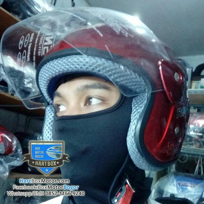 harga Masker motor full ninja anti debu anti lepek rambut fullface kain adem Tokopedia.com