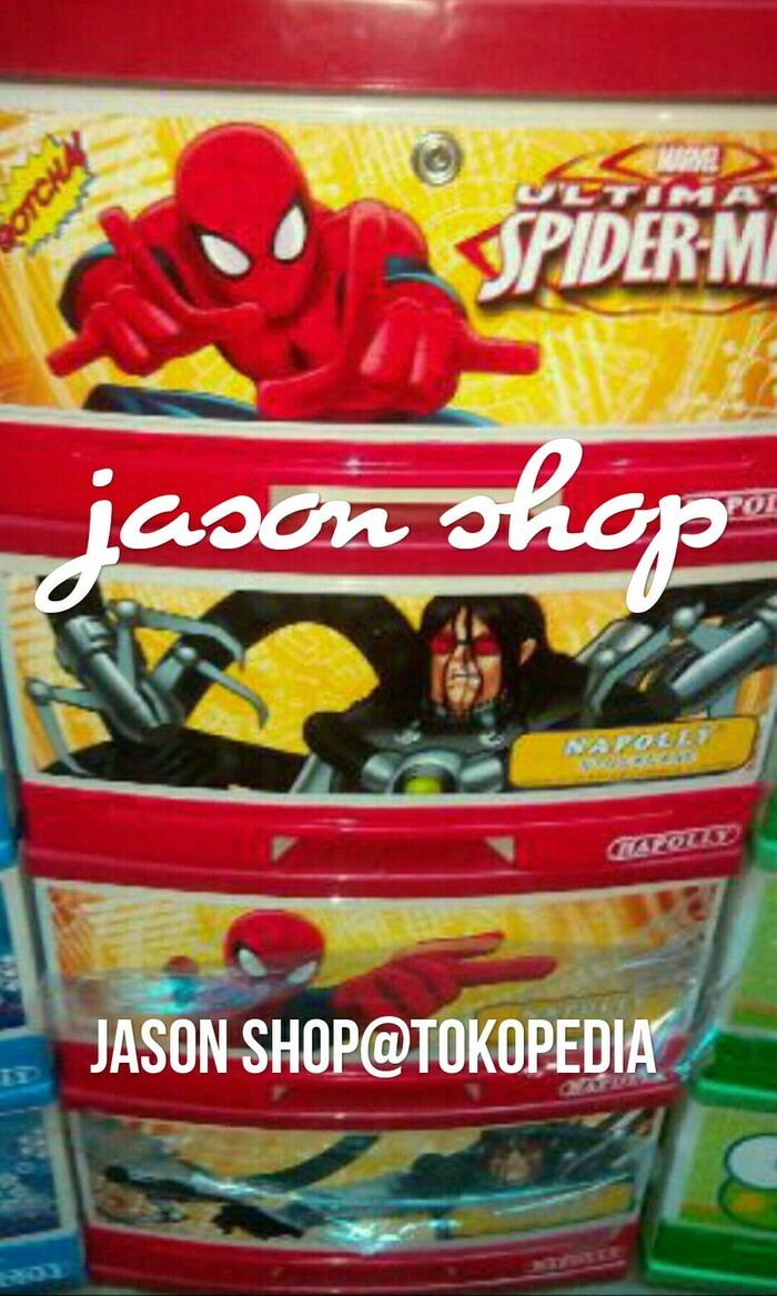 harga Lemari plastik napolly spiderman susun 4/lemari laci napolly spiderman Tokopedia.com