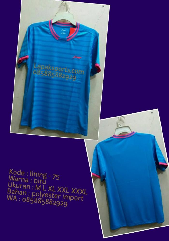 harga Kaos badminton lining 75 biru Tokopedia.com