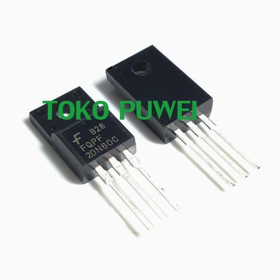 Foto Produk FQPF20N60C FQPF20N60 20N60 P20NM60FP 60V N-Channel MOSFET TO-220 AZ21 dari toko puwei