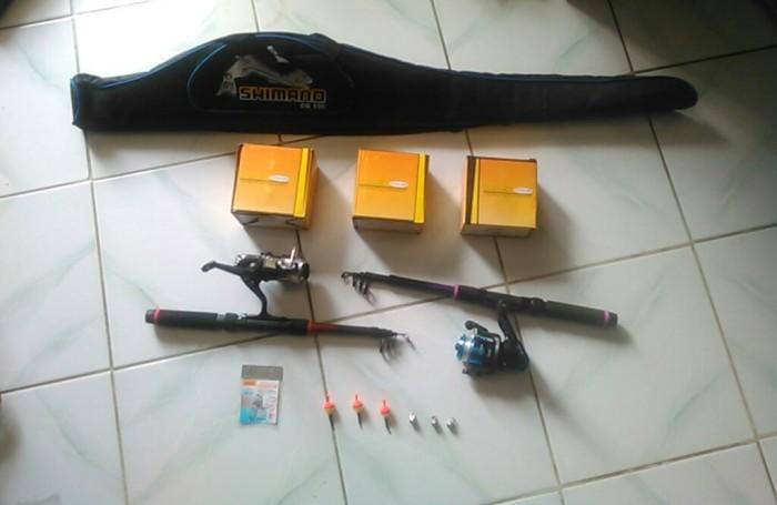Jual paket 1 set isi 3 alat pancing / reel / tas pancing / kail / rod -  Kota Bandung - Alat Pancing Murah | Tokopedia