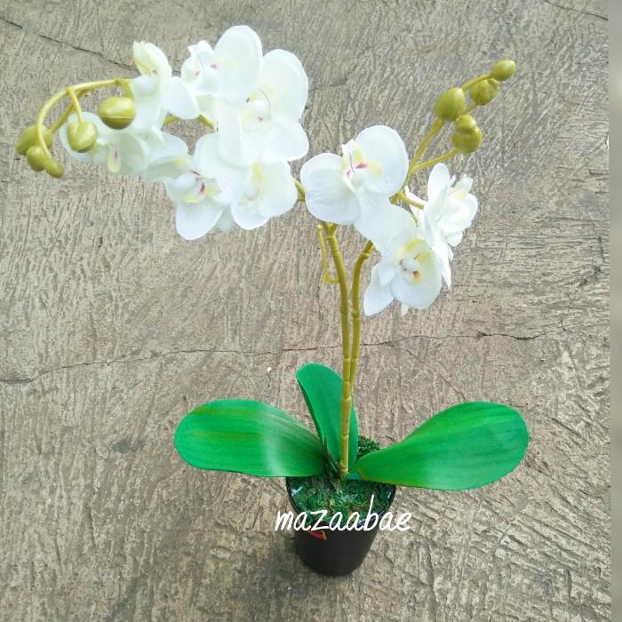 harga Buket bunga angrek artificial dan pot melamin cantik Tokopedia.com