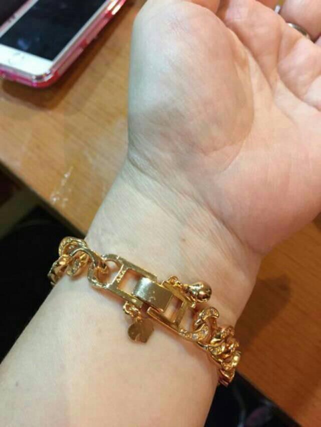 gelang wanita lapis emas