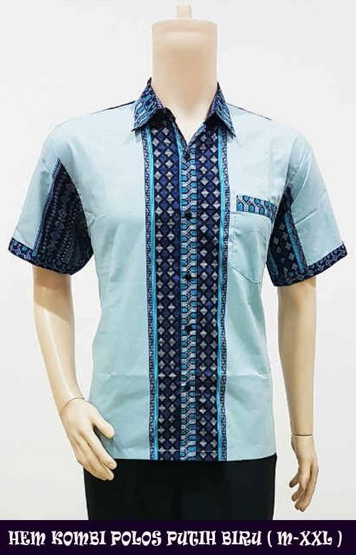 Jual Model Baju Batik Kombinasi Kain Polos Untuk Pria - Tasmirah ... 8da9fb6f90