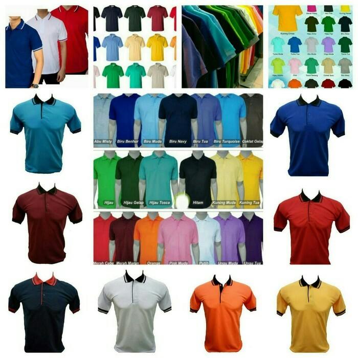 Jual Kaos Polo Shirt Polos Berkerah Bisa Bordir Sablon Jakarta Utara Rajasouvenir Tokopedia