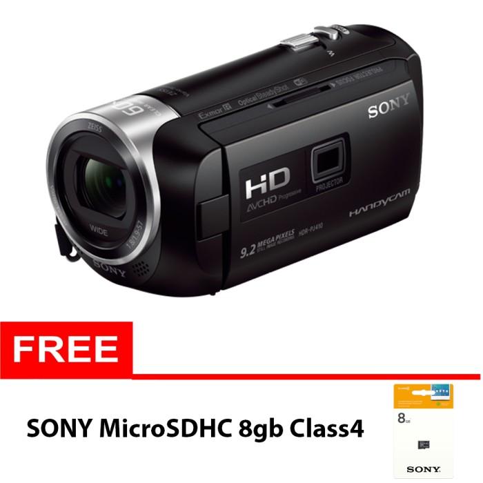 harga Sony hdr pj410 built-in proyektor - hitam + sony microsdhc 8gb class4 Tokopedia.com