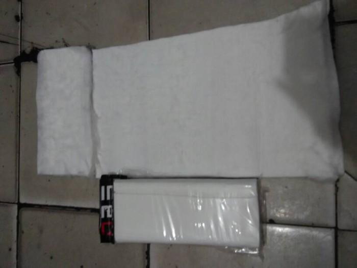 Foto Produk glasswool gaspul gasbul putih peredam knalpot racing dari Murah Rejeki Motor