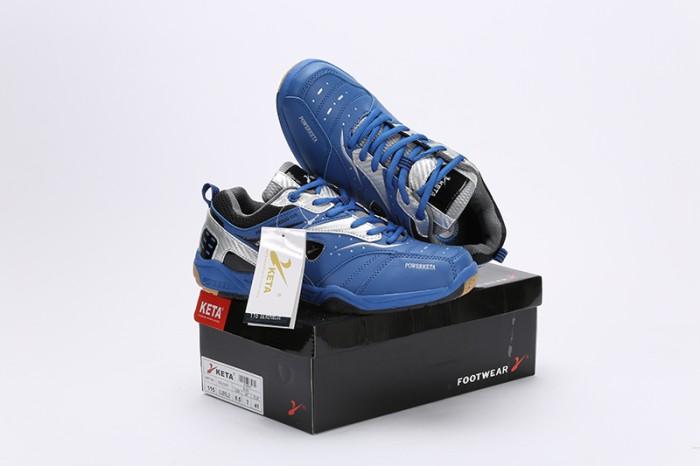 harga Sepatu badminton/bulutangkis/tennis keta 115_ silver blue Tokopedia.com