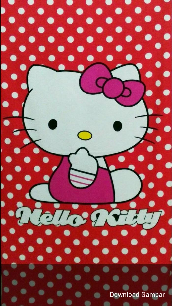 Jual Handuk Anak Murah Hello Kitty Polkadot Kota Bekasi Znashop