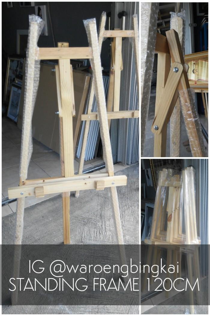 harga Standing Frame 120cm Warna Kayu Natural Tokopedia.com