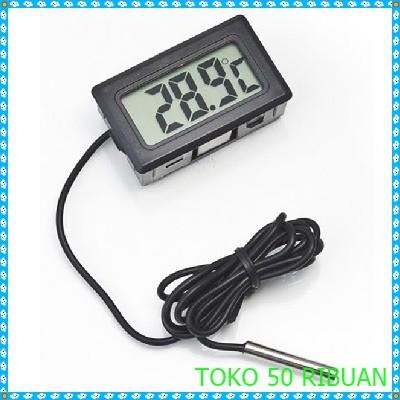 harga Termometer digital thermometer + sensor anti air - black g327 Tokopedia.com