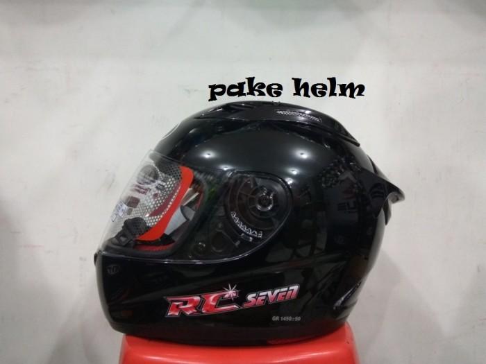harga Helm kyt rc 7 rc seven solid hitam glossy full face rc7 Tokopedia.com