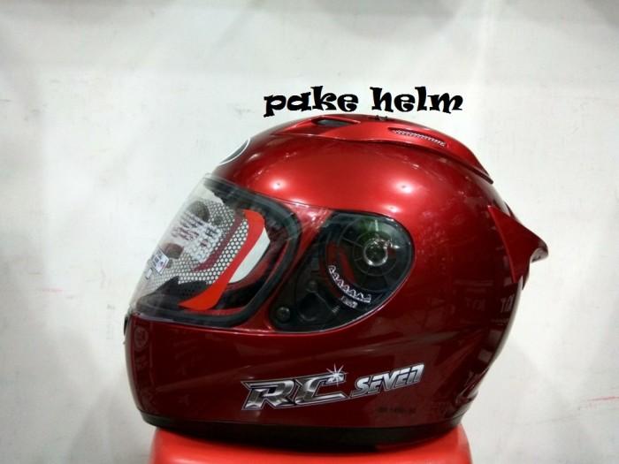 harga Helm kyt rc 7 rc seven solid merah marun full face rc7 Tokopedia.com